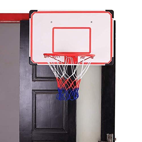 WYJW Soporte de Baloncesto Mini Sistema de aro de Puerta de Baloncesto para niños/jóvenes, Objetivos de Baloncesto de Montaje en Pared con Tablero de 27.5 Pulgadas y Estante de Tablero de Bolas