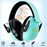 Loud Noise Cancelling Ear Protection - Childrens Safety Earmuffs for Kids and Babies - Helps Infant Baby Toddler to Sleep in a Car or an Airplane and at Home - Smart for Outdoor Travel - Aquamarine