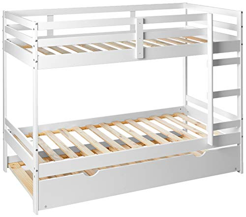 Donco Kids Bellaire Bunk Bed, Twin/Twin/Twin, White