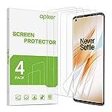 apiker [4 Stück] TPU Schutzfolie für Oneplus 8 Pro, Oneplus 8 Pro TPU Bildschirmschutzfolie, blasenfrei, hohe Definition, hohe Empfindlichkeit