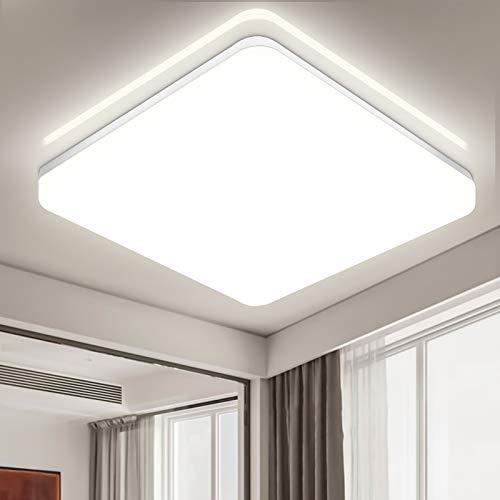 LED Deckenleuchte Bad, 36W 3600LM LED Deckenlampe, IP54 Wasserfest LED Badlampe,4000K Neutralweiß Badleuchte für Badezimmer, Wohnzimmer, Büro, Balkon, Esszimmer, 32.7X4.9CM
