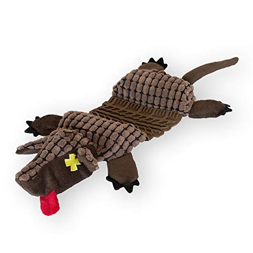 Outward Hound 67878roadkillz Armadillo Spielzeug, groß, Braun