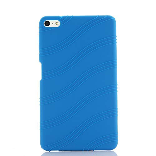 Oneyijun Dark Blue Soft Silicone Skin Pouch Protection Case Protective Cover for Huawei MediaPad M2 Lite PLE-703L 7.0 inch Tablet