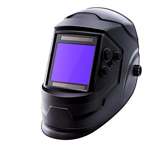 Orion Motor Tech Auto Darkening Welder Helmet, 100x93mm Large View Area, Solar...