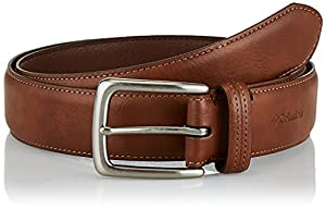CLASSIC STYLE: There is no doubt that this will become your new everyday belt. It has a simple strap with stitching, a sleek metal harness buckle, and a classic English tip. With 7 holes along the strap, you will get the perfect fit to secure your pa...