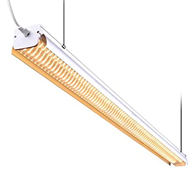 SUMERFLOS 4FT LED Grow Light, 64W Full Spectrum Sunlike Integrated Growing Lamp Fixture, 100 lm/w Ultrahigh Output, Plug and Play, with On/Off Switch, for Indoor Greenhouse Plants Veg and Flowers