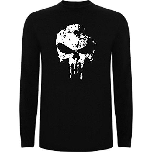 Camiseta Manga Larga de Hombre Punisher...