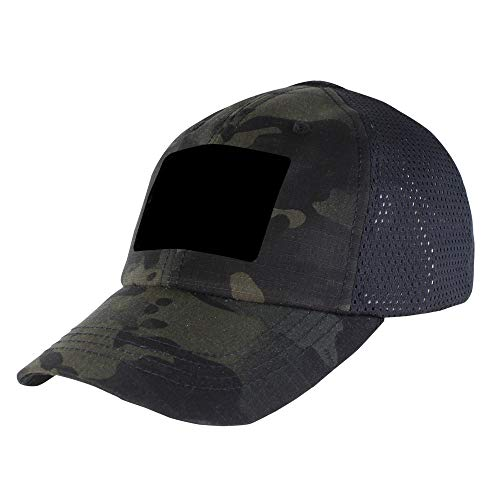 Condor Mesh Tactical Cap (Multicam Black, One Size Fits All)