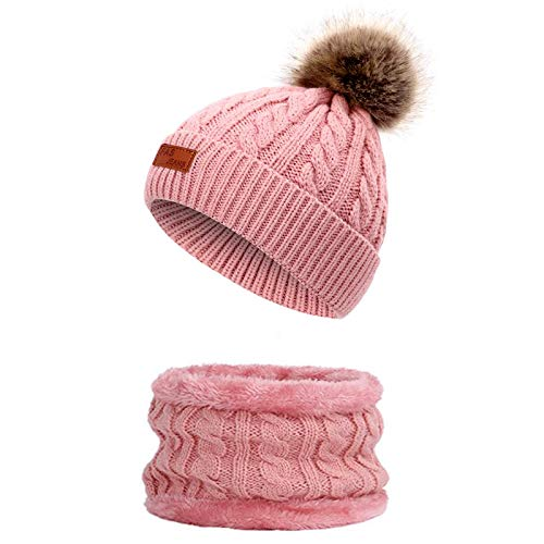 Sombrero Caliente de Punto Niños Niñas Invierno Set de Beanie Gorro de...