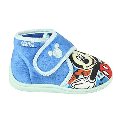 CERDÁ LIFE'S LITTLE MOMENTS 2300004559_T026-C37, Zapatillas de Casa Cerradas Niño de Mickey-Licencia Oficial Disney, Azul, 26 EU