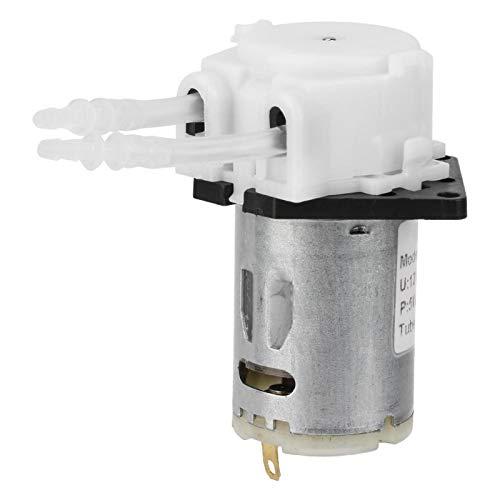 LANTRO JS - 12V Mini-Peristaltikpumpe, Miniatur-Wasserpumpe-Dosierpumpe DIY Peristaltik-Röhrenkopf für die chemische Analyse im Aquarium-Labor(2 * 4 weiß)