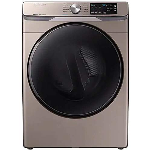 Samsung DVE45R6100C 7.5 Cu. Ft. Champagne Electric Dryer with Steam Sanitize+ DVE45R6100W A3