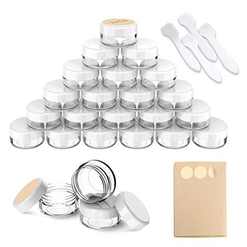 PAMIYO - Botes vacíos para crema (24 unidades, 15 ml, con lado de inicio)