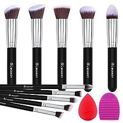 top 10 professional makeup brushes BEAKEY Makeup Brush Set, Premium Synthetic Kabuki Foundation Face Powder Blush Eyeshadow Brush …
