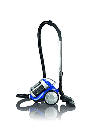 CLEANmaxx 09897 Zyklon-Staubsauger | HEPA-Filter | 700 Watt | Energiesparend - Energieeffizienz A | Leise - nur 72 dB | Blau-Silber