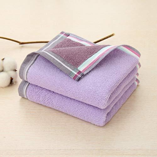 LAOHAO Haushalt Erwachsene Kinder Doppelseitiges Farbabsorbierendes Handtuch 34 × 74 cm Verpackungstechnologie Verblasst Nicht Baumwollhandtücher (Color : Purple, Size : 34×75)