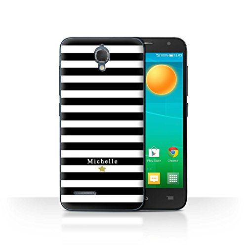 Stuff4 Phone Case/Cover/Skin/alcidl2 m/Custom Stripes/Striped Collection Étoile Rayure Noir