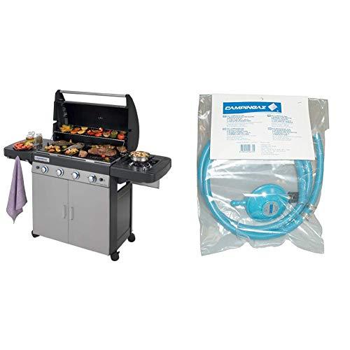 Campingaz 4 Series Classic LS Plus Grill Barbecue Gas, Nero/Grigio + Campingaz Y980000000 Regolatore di pressione del gas accessorio per barbecue/grill