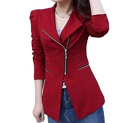 THE LONDON STORE Women's Autumn Spring Women's Blazer Elegant Office Work Blazers Fashion Lady Coat Suits Female Slim Jacket Suit Red Lining