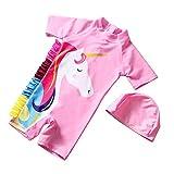 Traje de baño de unicornio para niñas traje de baño de playa con gorro de...