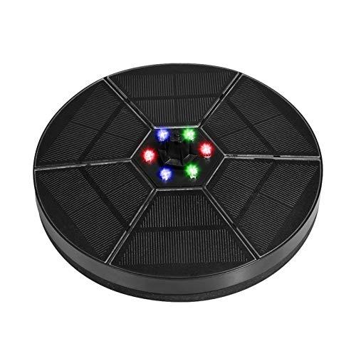 Jilijia Fuente Solar De 6 V / 3,5 W, Fuente Solar De Batería con 7 Tipos Diferentes De Cabezales De Boquilla Adjuntos,Luces LED De Colores Fuente De Piscinas para Baños De Pájaros, Estanques