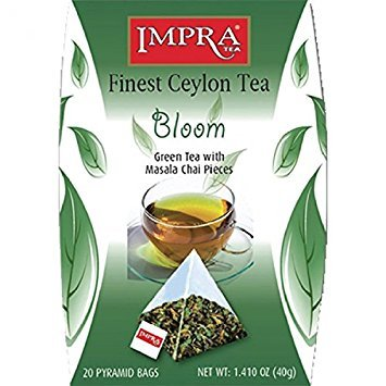 "Impra ""Bloom"" Green Tea with Masala Chai Pieces, 2 g /20 ct /40 g"