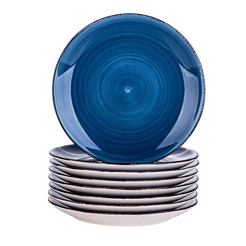 vancasso Bella Piattino Frutta Ceramica 8 Pezzi Set Piatti Blu ø 20cm