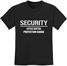 Gift for Big Brother - Security for My Little Sister Kids T-Shirt with Stickers