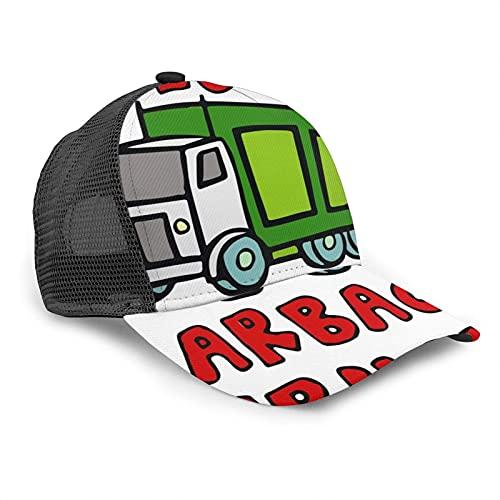 Oaieltj Gorra de béisbol unisex para mujer y hombre, gorra de béisbol ajustable de malla Snapback sombrero de camionero sombrero de sol, Me encanta la basura camiones, Talla única