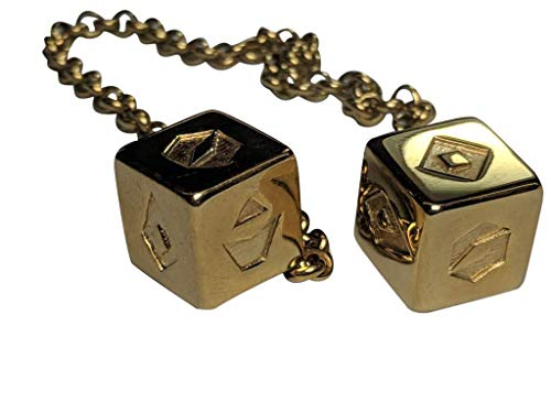 Smuggler s Dice Accurate Stainless Steel Gold Plated Deluxe Solo Dice - Shiny with Gift Box