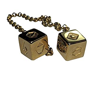 Smuggler's Dice Accurate Stainless Steel Gold Plated Deluxe Solo Dice (Large)