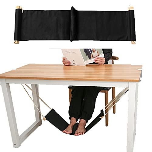 Yamasan Foot Hammock Under Desk with Separate Cushion Footrest Adjustable Office Foot Rest Under...