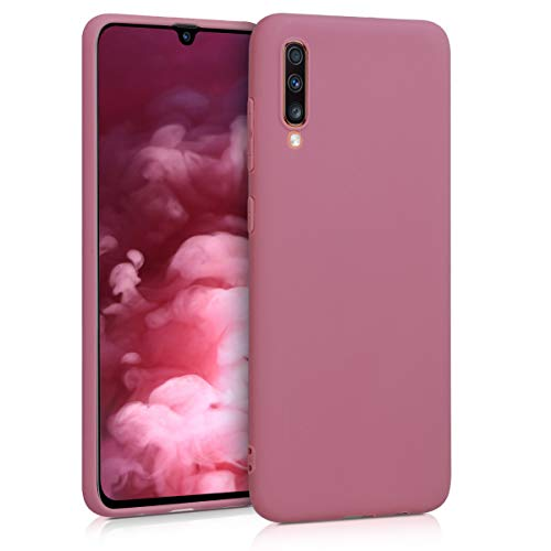 kwmobile Hülle kompatibel mit Samsung Galaxy A70 - Hülle Silikon - Soft Handyhülle - Handy Hülle in Deep Rusty Rose