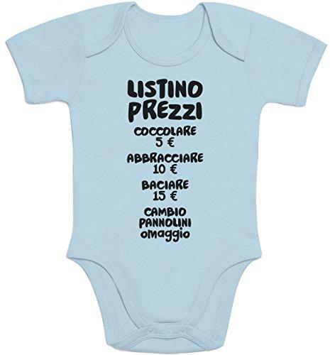 Shirtgeil Baby Bambini Listino Prezzi - Idee Regalo Body Neonato Manica Corta 0-3 Mesi Turchese
