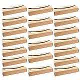Angoily 20 Cajas de Macaron de Papel Cajas de Macaron Cajas de Embalaje Cajas de Panadería Cajas de Regalo para 4 Cupcake Candy Galletas Donut Muffins Marrones