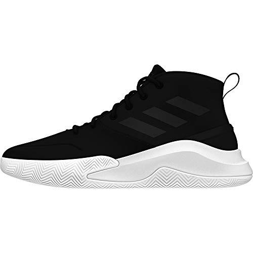 Adidas Ownthegame, Zapatillas de Baloncesto Hombre, Negro (Negbás/Negbás/Nocmét 000), 47 1/3 EU