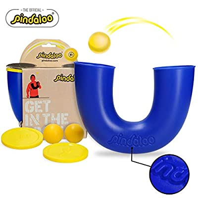 pindaloo Skill Toy. The Latest Craze to Hit The U.S.A. for Kids, Teens and Adults. Lots of Fun, Develops Motor Skills, Hand/Eye Coordination and Confidence. for Indoor and Outdoor Play (Blue)