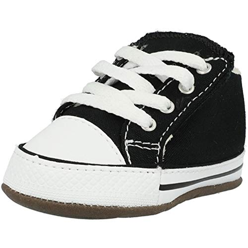 Converse Baby Chucks Schwarz Chuck Taylor All Star Cribster Canvas Color - Mid Black Natural Ivory White, Groesse:20