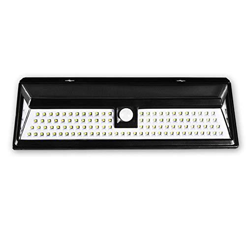 KX&VV zonne-licht, 90 led driezijdig outdoor waterdichte veiligheid wandlamp, schittering verlichting, drie modi, bewegingssensor verlichting voor buiten binnenplaats, tuin, balkon, grootte: 30 * 10.5 * 5CM