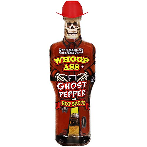 WHOOP ASS Premium Ghost Pepper Hot Sauce – Try if you dare! – Perfect Gourmet Gift for the Hot Sauce Fan