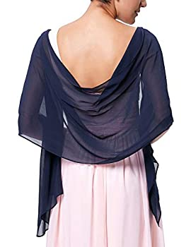 Solid Wedding Shawls Wraps Women s Evening Dress Scarves Navy Blue