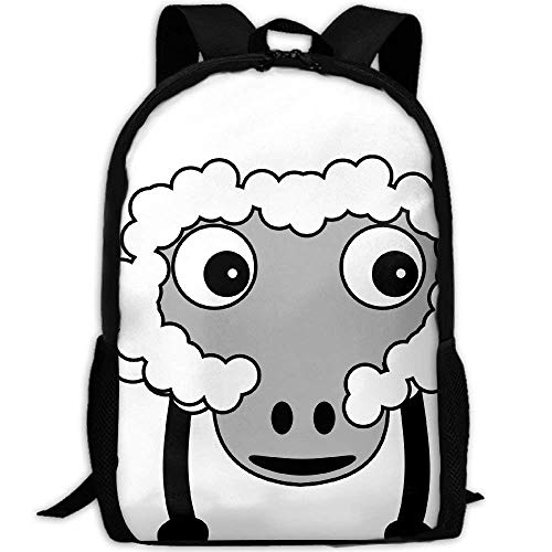TTmom Zaini/Zaino Casual,Borse a Zainetto, Sheep Fluffy Farm Animal Print Custom Casual School Bag Backpack...