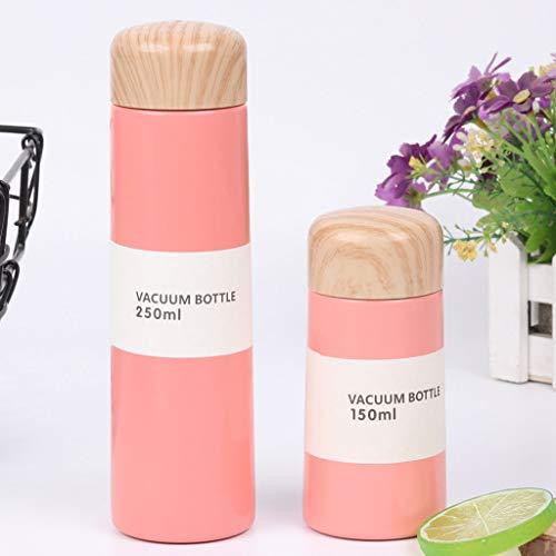 LLKK Taza Termo de Color Puro de pequeña Capacidad,Mini Taza portátil Estilo Harajuku Termo,Material de Acero Inoxidable,Drenaje de té de precisión Incorporado