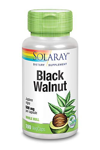 Solaray Black Walnut Hull 500 mg | Schwarze Walnussschalen 500 mg | 100 VegCaps