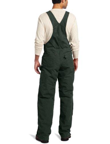 Carhartt Men's Quilt Lined Sandstone Bib Overalls,Moss,36 x 30