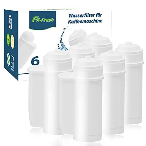 6x Fil-Fresh Alternative Wasserfilter Brita Intenza, Kompatibel mit Siemens EQ Series, EQ6, EQ9, TZ70033, TCZ7003, TZ70003, Ersatz-Filterpatrone für Bosch, Neff und Gaggenau Kaffeevollautomaten