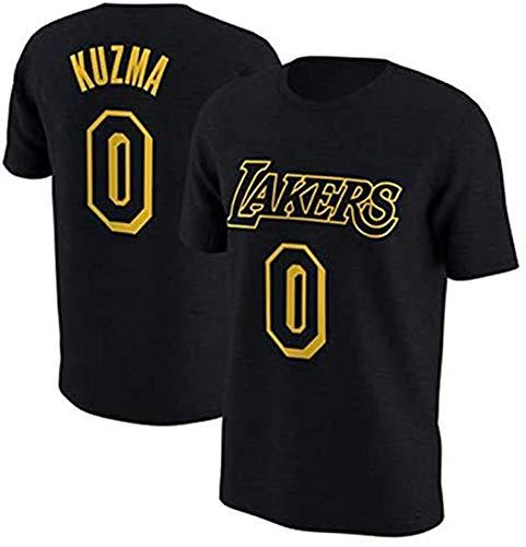 XH-CHEN Baloncesto Camiseta de los Hombres, de la NBA Los Angeles Lakers # 0 Kyle Kuzma Jersey Retro Ocasional cómodo Formación de Baloncesto Superior,XL:175~180cm