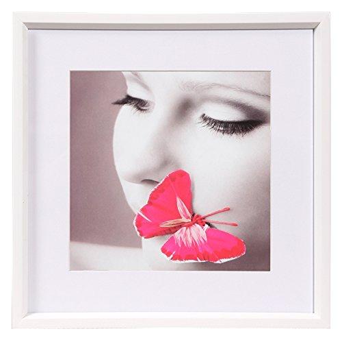 Ideal Style Kunststoff Bilderrahmen quadratisch 20x20 30x30 40x40 50x50 Rahmen: Farbe: Weiß | Format: 20x20