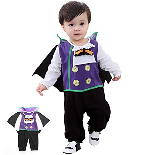 Zoylink Set De Disfraz Infantil De Halloween Traje De Cosplay Mono De Manga Larga Con Capa