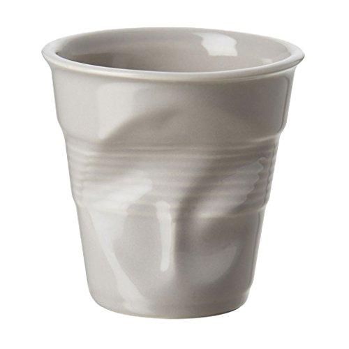 Revol RV644713 Tasse Cappuccino Froissé, Porcelaine, Taupe, 8,5 x 8,5 x 8,5 cm